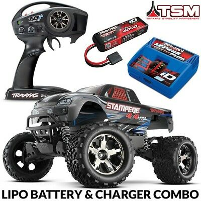 Traxxas 67086-1 Stampede 4X4 VXL Brushless RTR Truck, TQi 2.4GHz & QUICK CHARGER