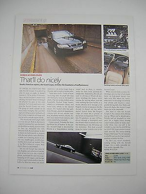 Honda Accord Coupe 3.0i V6 Road Test article from 1998 - Original