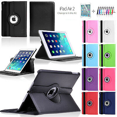 360°Rotating Smart Flip Leather Case Cover For New iPad Air 2 2nd Gen 6