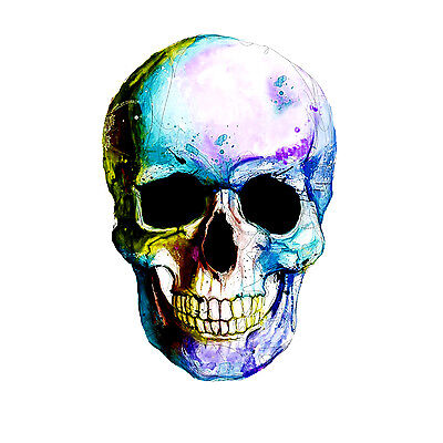Skull Colourful Abstract Art WALL ART CANVAS FRAMED OR POSTER PRINT