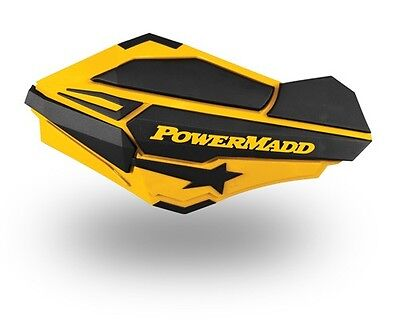 Powermadd Sentinel Snowmobile Atv Mx Handguards Skidoo Yellow Black