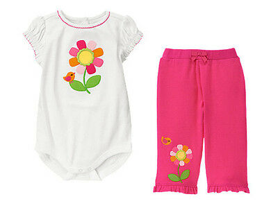 NWT Gymboree Baby Girls Brand New Baby Pink Pull-Banded On Pants 0-3-6-12-18 M