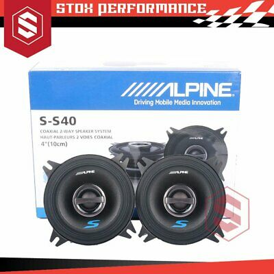 "NEW ALPINE SPS-410 4"" / 10cm 2 Way Type-S Coaxial Car Audio Speakers Stereo"