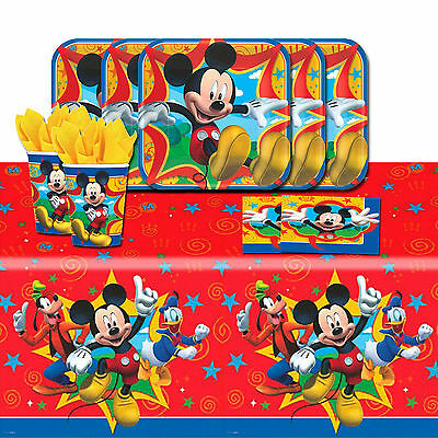 Disney Mickey Mouse and Friends Birthday Party Tableware Pack Kit For 16