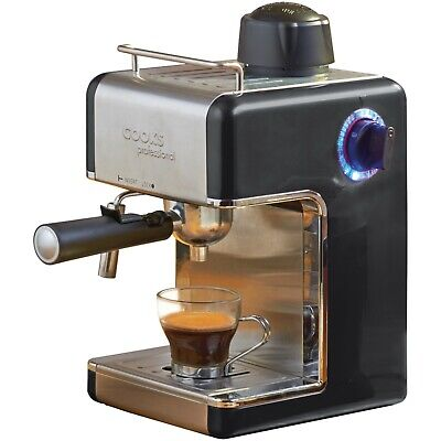 Italian Espresso Coffee Espresso Cappuccino Machine Black Cooks Professional