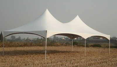 20 x 40 White Replacement TOP ONLY High Peak Frame Tent Tentandtable Awning