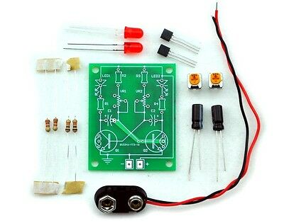 Adjustable LED Flashing / Astable Multivibrator Circuit Learn Kit.