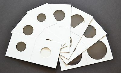 500 2x2 ASSORTED CARDBOARD MYLAR COIN HOLDERS YOU CHOOSE SIZES!! NEW!