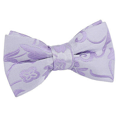 New Dqt Passion Boys Pre-Tied Wedding Bow Tie - Lilac