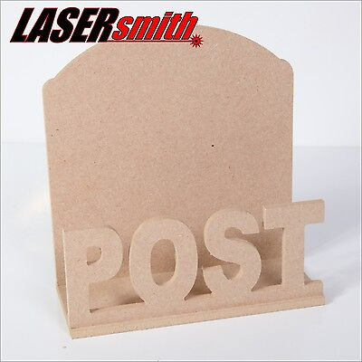 Post / Mail / Letter Rack Holder made with 6mm MDF for craft, decoupage etc