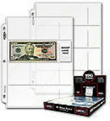 10 - Currency Paper Money 4 Pocket Collector Pages Archival Safe Free Shipping