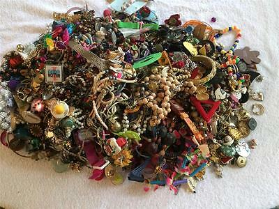Mixed Lot of Jewelry for Arts & Crafts, Upcycle Recycle Projects Reuse and More