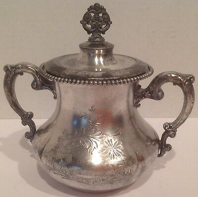 Antique Homan Silver-plate Co. Quadruplated 2165 Sugar Bowl With Lid