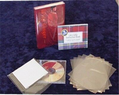 "500 pcs 6X9"" CD, DVD, Shrink Film Wrap Flat Bag 100 Ga Heat Shrinking Packing"