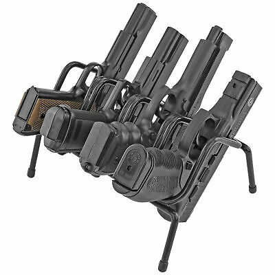 Handgun Rack 4 Gun Pistol Holder Metal Organizer For Safe Storage Vinyl Coated