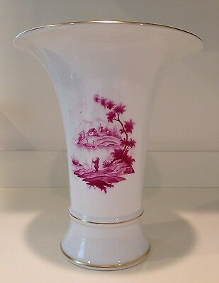 Hochst Hand-Painted Trumpet Vase Made In Germany New