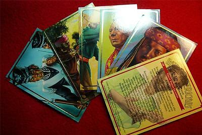 Vintage Rare Full Set of  Native American Trading Cards First -Run Edition