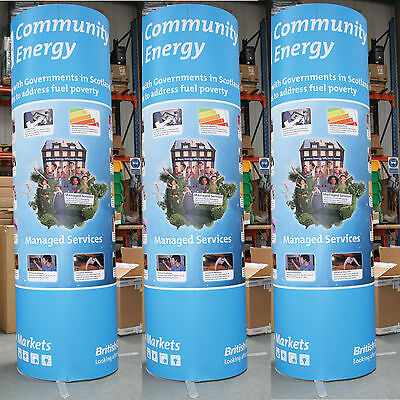 2.2 - 3m Circular Exhibition Display - Stand - Tower - Magnetic - Pop up Display