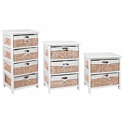 Maize Baskets Unit White 2 3 4 Drawer Storage Cabinet Organiser By Home Discount