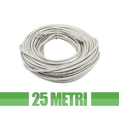 Cavo Di Rete 25 Metri Ethernet Utp Cat5 Lan Matassa Rj45 Network Internet Cable