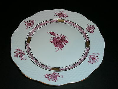 Herend Raspberry Pink Chinese Bouquet Cake Dessert Salad Plate 517 AP