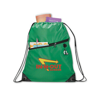 DELUXE DRAWSTRING TOTES - 100 quantity - Custom Printed with Your Logo