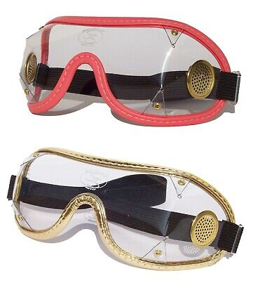 SAFTISPORTS SkyDiving Freefall Parachuting Safety Goggles|Brass Vented/Wide Band
