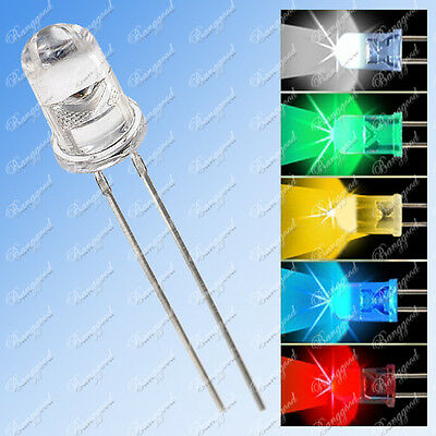3MM 5MM RGB LED Ronde 2pin Lamp Ultra-Bright diffusant Multicolore x10-500 Diode