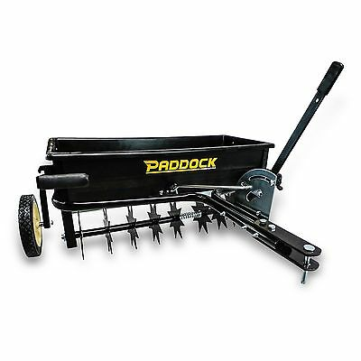 Seed Spreader Spike Seeder Soil Aerator ATV Quad Bike Ride On Mower Four Wheeler