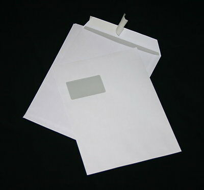 250 St Envelopes DIN A4 C4 White with Window Envelopes envelope HK Post