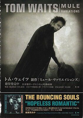 TOM WAITS - Mule Variations - JAPAN MAGAZINE ADVERT CLIPPINGS