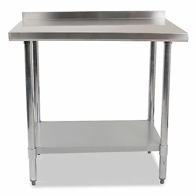 """STAINLESS STEEL COMMERCIAL CATERING HOME KITCHEN 36x24"""" SPLASHBACK TABLE BENCH"""