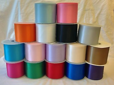 High Quality Satin Sash Ribbons - 2m, 5m, 10m (100mm/4in Wide) for All Occasions