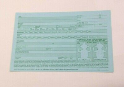 100 Dog Groomers Record/appointment Cards. In White With Green Print.