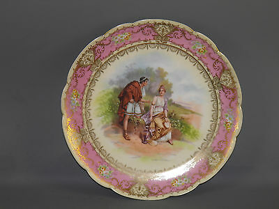 Vintage Imperial Crown China Austria Decorative Plate Figural Classical Motif