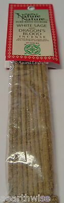 10 x WHITE SAGE  & DRAGONS BLOOD NATURE INCENSE STICKS Wicca Witch Pagan Goth