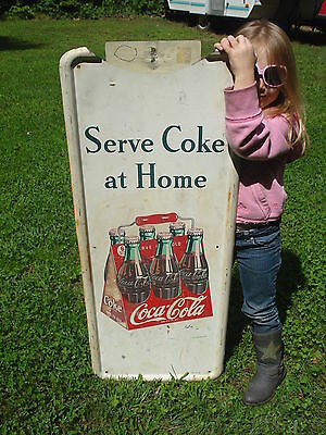 1948 Coca-Cola 6 Pack Pilaster Metal Sign Not Porcelain soda advertising RARE
