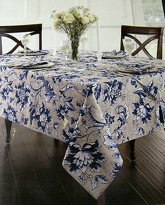 Waterford Floral Leaf/Jaden Tablecloth & Napkin Sets 60 x 80 or 70 Round ~ NIP