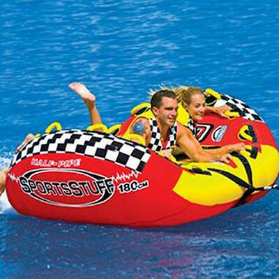 Sports Stuff Half Pipe Rampage Towable Ski Tube Inflatable Biscuit Boat Ride