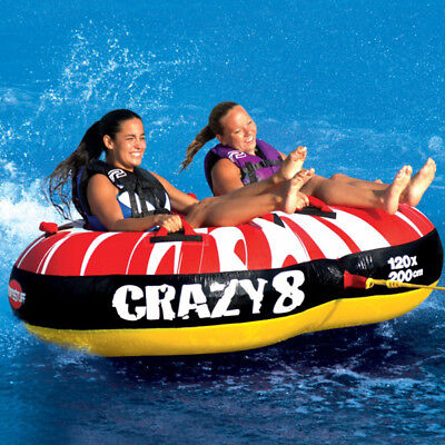 Sports Stuff Crazy 8 Inflatable Towable Ski Tube Inflatable Biscuit Boat Ride