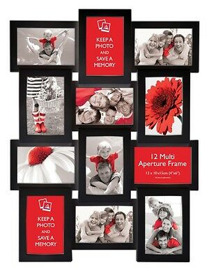 Multi Aperture Photo Picture Frame - Holds 12 X 6''X4'' Photos