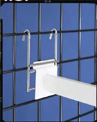 Slatwall to Grid Gridwall Adapter Retail Store Display Chrome Lot of 100 NEW