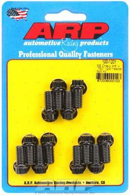 "ARP Header Bolts 12-Point 3/8"" Wrench Custom 450 Black Oxide SBC Set of 12"