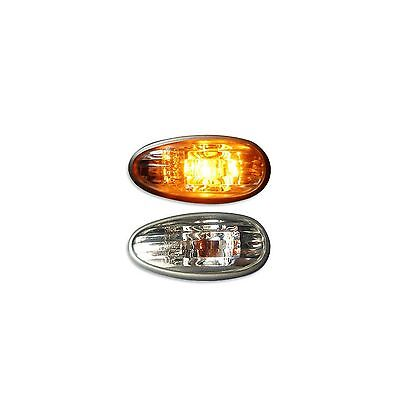 2x Clear Side Repeater Indicators Marker Light Units Direct Replacement 12v