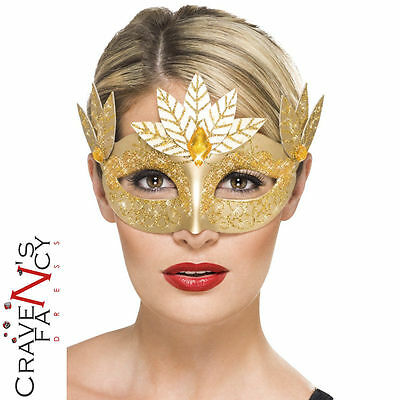 Roman Regal Gold Eyemask Goddess Masquerade Myth Greek Fancy Dress