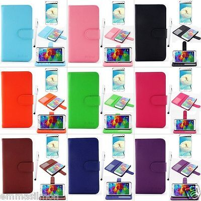 RUBAN PU Leather Wallet Case Flip Smart Cover Stand For Samsung Galaxy S5 i9600