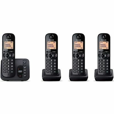 Panasonic KXTGC224EB Quad Cordless DECT Phone with Answer Machine KX-TGC224 New