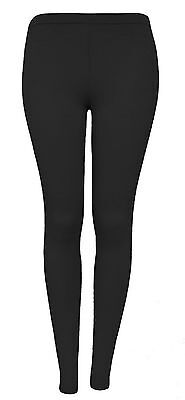 Womens Ladies New Winter Fleece THERMAL Plain Stretchy Thick Full Length Legging