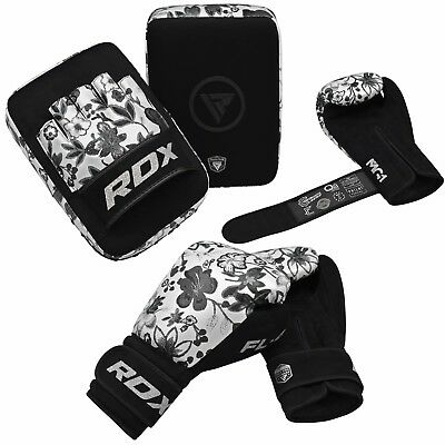 RDX Women Boxing Pads and Gloves Set Muay Thai Training MMA Focus Mitts Punching