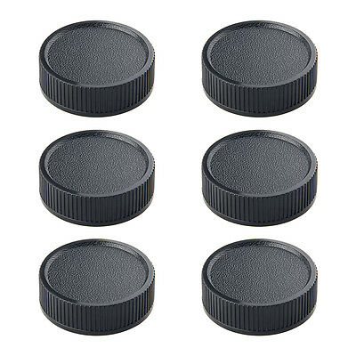 6*Black Rear Lens Cap Cover Screw Mount for Leica M39 LTM LSM MCM39 39mm